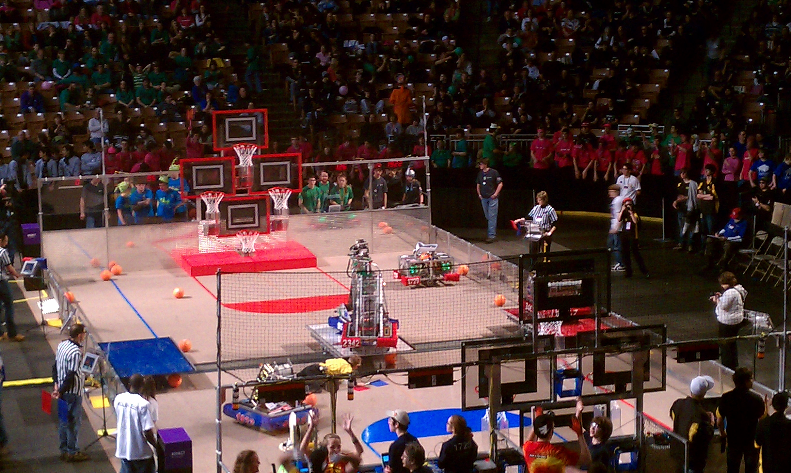 Robot during the competition