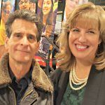 Dean Kamen and Amy, one of our mentors