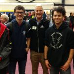Don Bossi, president of FIRST, with some of our student team members at SNHU