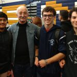 Woodie Flowers with some of our student members at SNHU