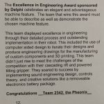 Excellence in Engineering Award Write-up by the Judges