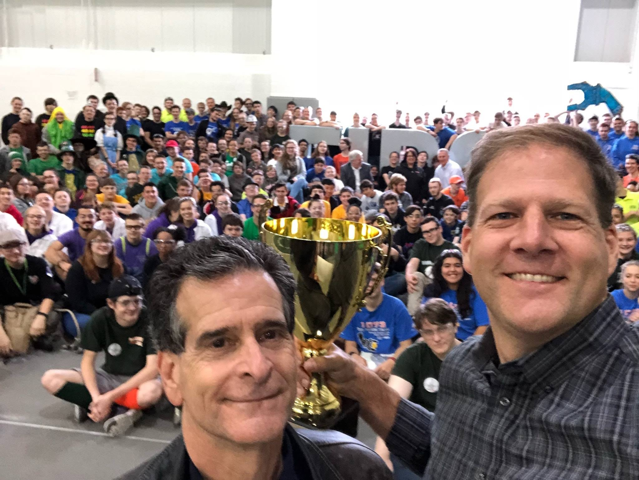 FIRST's co-founder, Dean Kamen, and NH's Governor, Chris Sununu, at the Governor's Cup