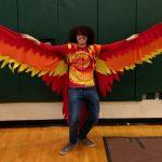Is it Ed the Eagle? No, its the Team Phoenix Mascot!
